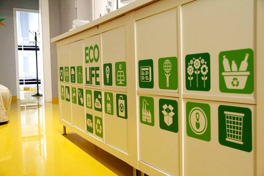 Caring for the environment at an eco hostel